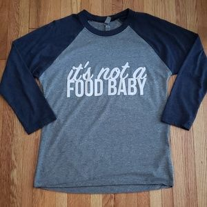 """""""It's not a food baby"""" Baseball Maternity shirt for sale"""